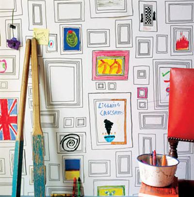 papier peint coloriage cadre graham brown dco chambre bb - Coloriage Decoration Dune Chambre De Bebe