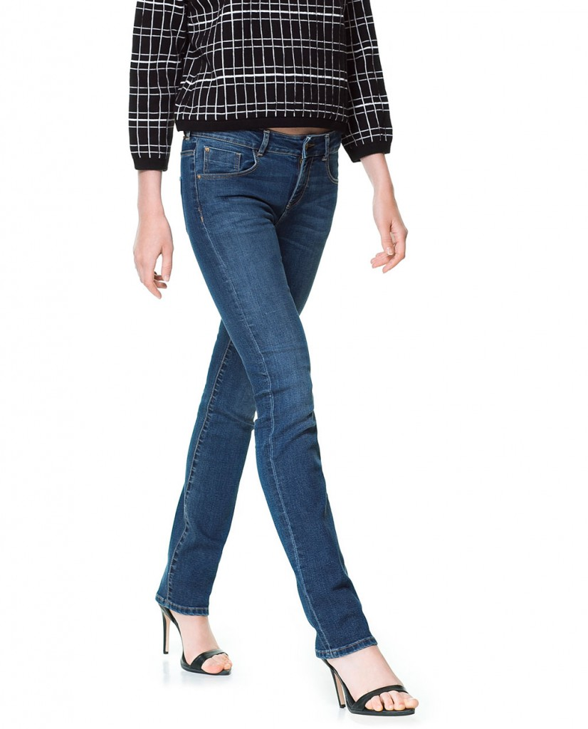 pantalon en denim droit zara 29,95 €
