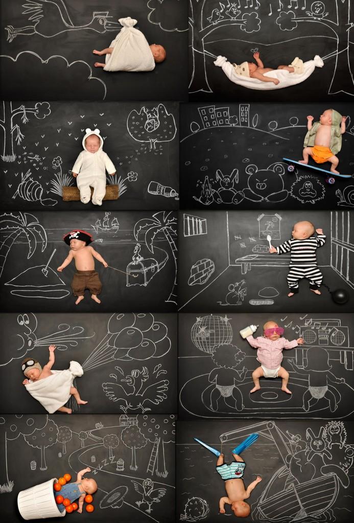 Un tableau une craie un b b des photos de b b for Tableau noir pour enfant