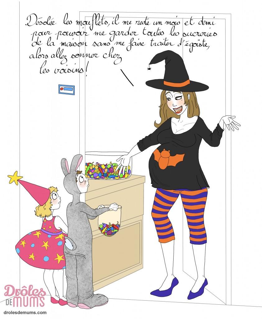 Comment f ter halloween enceinte dr les de mums - Image halloween drole ...