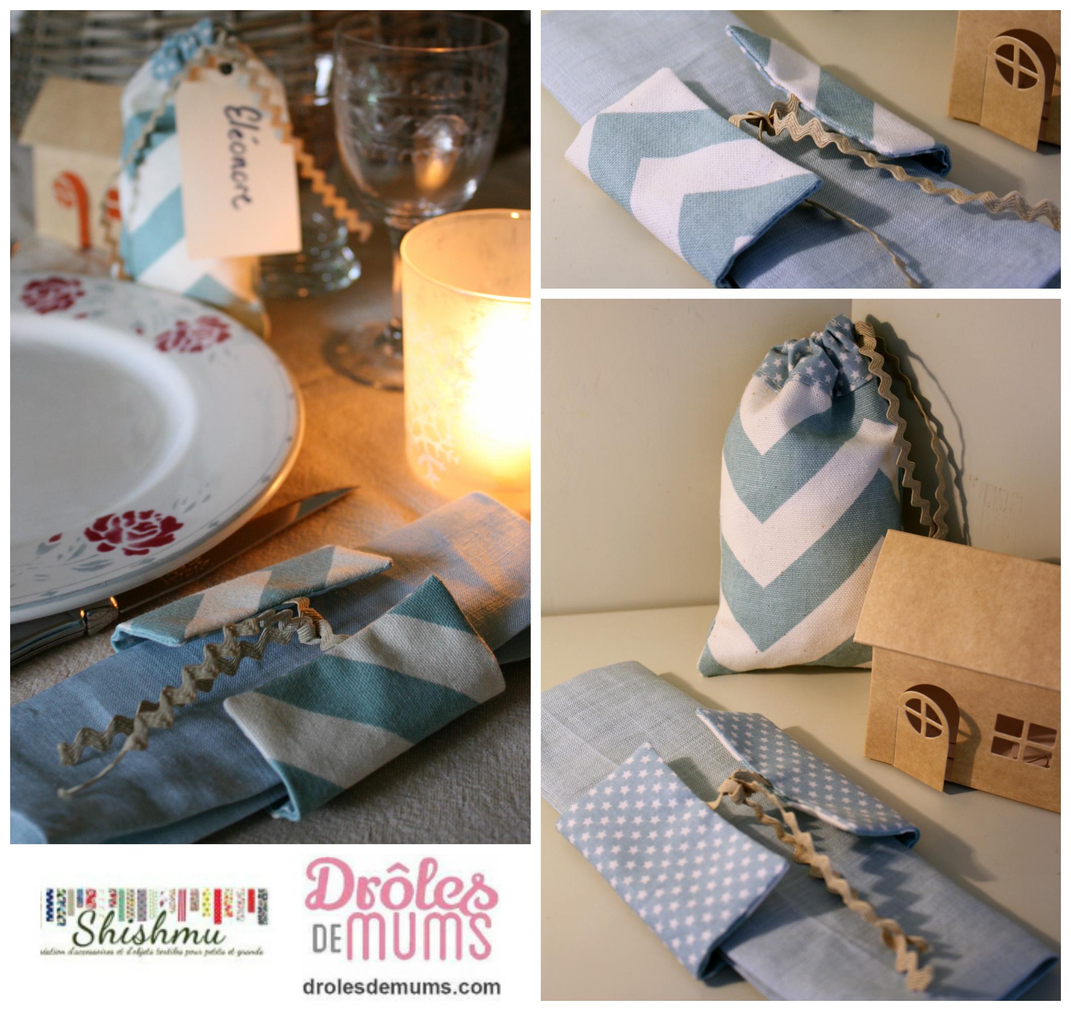 Diy Rond De Serviette collage diy rond de serviette et pochon - drôles de mums