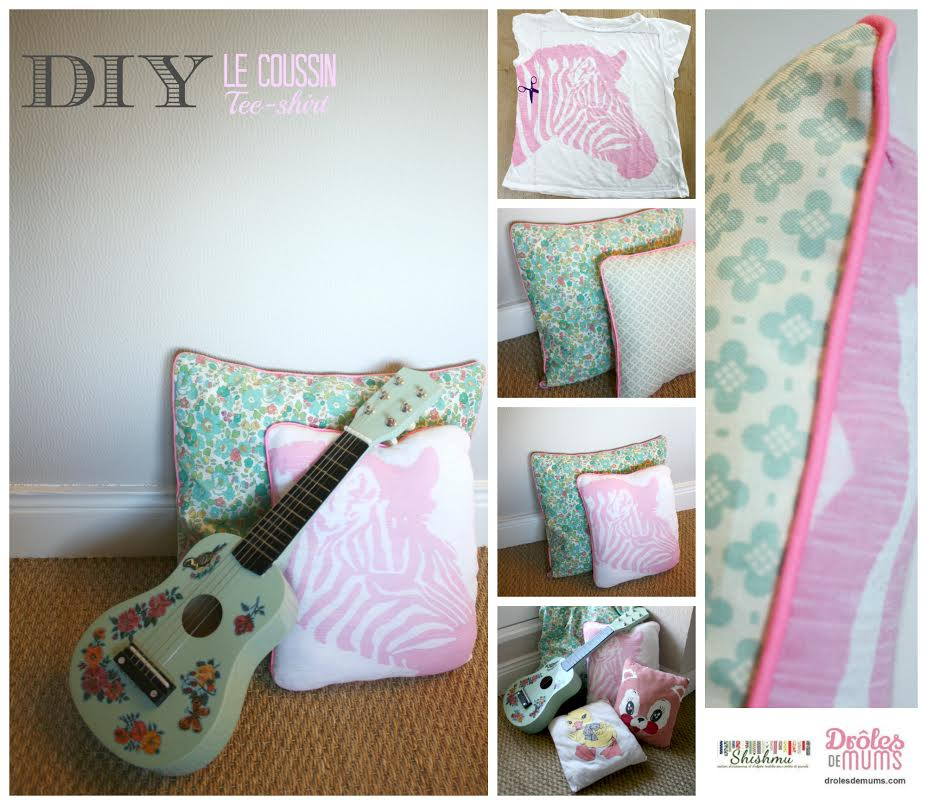 diy le tuto tr s beau qui tue faire un coussin avec un t shirt. Black Bedroom Furniture Sets. Home Design Ideas