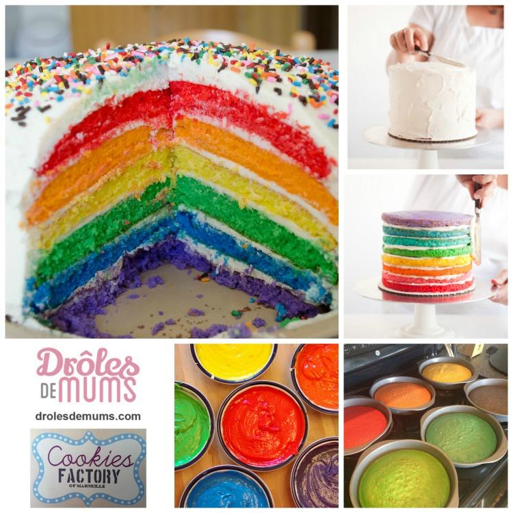 un g teau d 39 anniversaire tout en couleurs le rainbow cake. Black Bedroom Furniture Sets. Home Design Ideas
