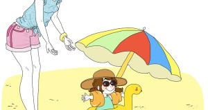 bebe-à-la-plage