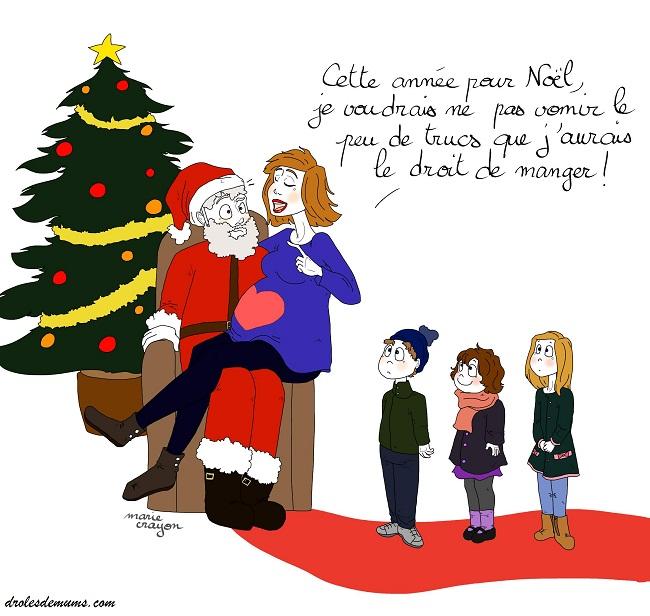 Cher Pere Noel Mon Cadeau Special Femme Enceinte Est Droles De Mums