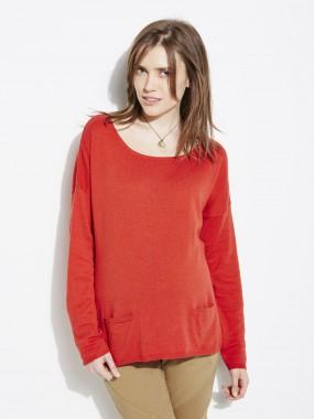 Pull forme boîte coton et laine de grossesse Colline pour Vertbaudet, 20,97 €