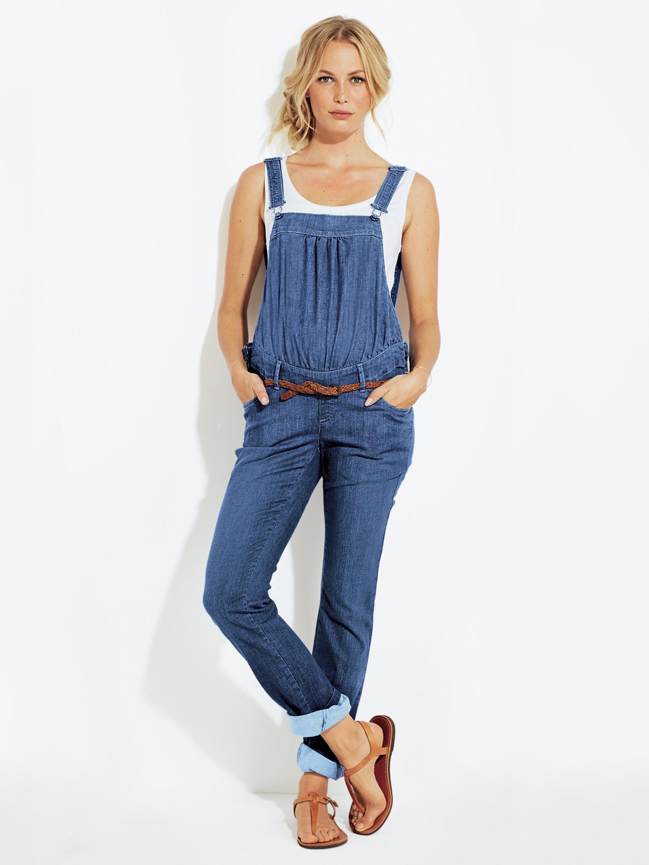 Salopette en jean stretch de grossesse Colline pour vertbaudet, 37,45 €