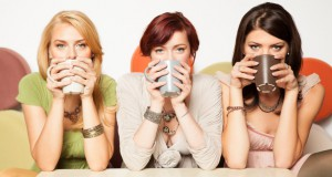 women drinking coffee