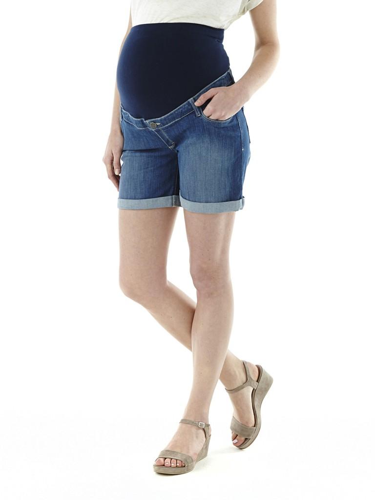 Short en jean de maternité Okaïdi, 34,99 €