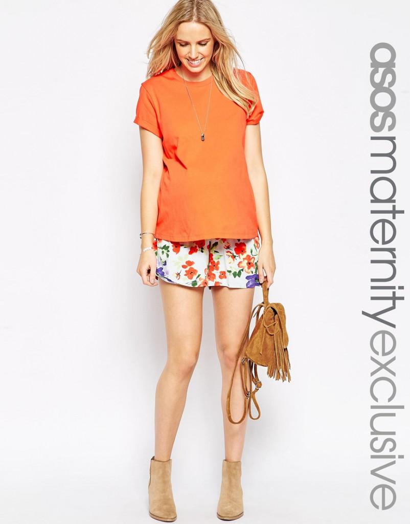 ASOS Maternité - Jupe-culotte à fleurs avec lien à nouer à la taille 23,99 €