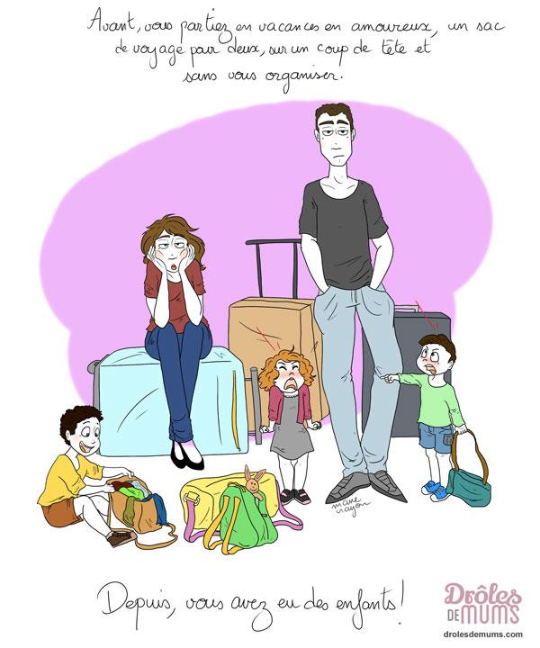 Vacances Avant Maintenant Le Jeu Des 5 Differences Droles De Mums