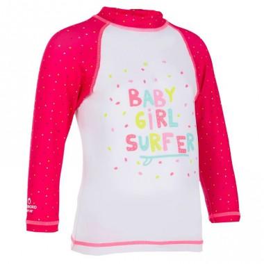 Tee shirt anti UV bébé manches longues TRIBORD pour Décathlon - 9,99 euros