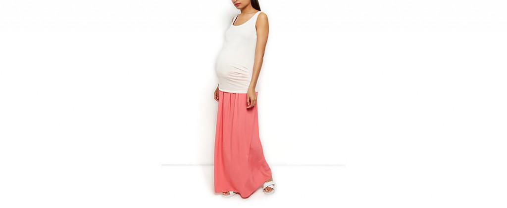 Jupe longue de maternité Newlook, 17 €