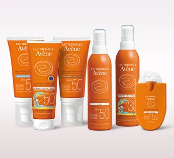 Gamme protection solaire peaux sensibles Avène