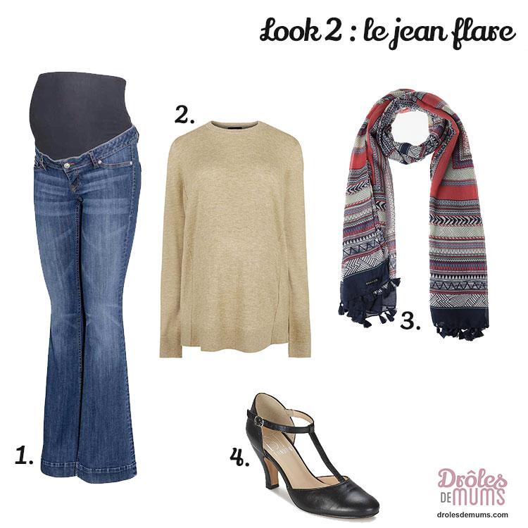 mode-grossesse-jean-flare