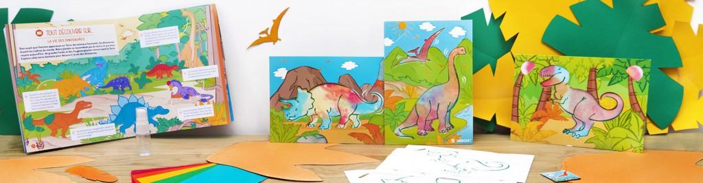 """En janvier, retrouvez la couleur des dinosaures avec le kit """"Bienvenue à Jurassic Craft"""" !"""