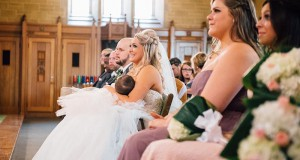 Christina Torino-Benton, who breastfed her daughter during her wedding and now the photo is going viral. Credit: Lana Nimmons Permission securted by Julie Mazziotta