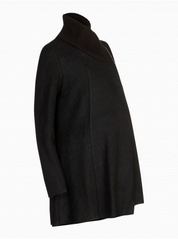 Manteau de grossesse col maille La Halle - 69,99 €