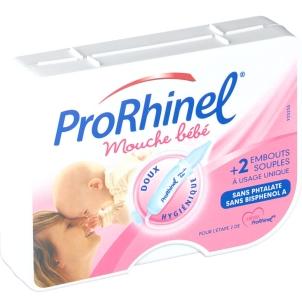 Mouche-bébé ProRhinel 6 € environ le mouche-bébé et 8 € la boîte de 20 embouts jetables