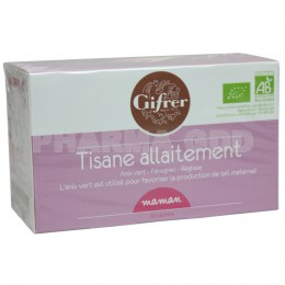 Tisane d'allaitement Gifrer - 4,16 € les 20 sachets