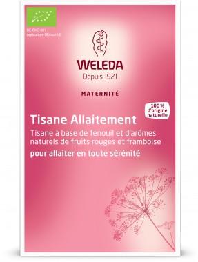 Tisane allaitement bio Weleda - Une tisane à base de fenouil et d'arômes naturels de fruits rouges et de framboise - 5,85 € les 20 sachets