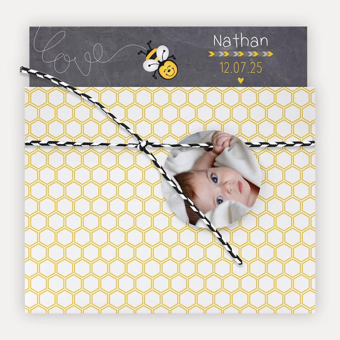 faire-part-naissance-pochette-abeille-alveoles-fond-ardoise-jaune-ny6l226